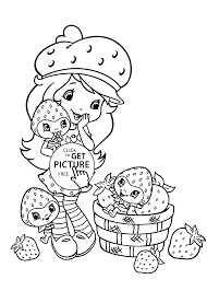 strawberry shortcake coloring pages printable free