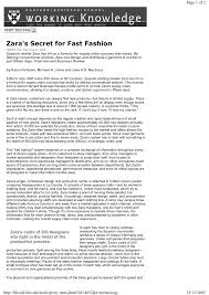 Supply Chain Fashion Industry Zara U0027s Secret For Fast Fashion Pdf Download Available