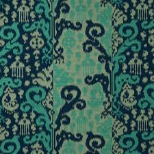 modern teal and navy blue ikat fabric teal ikat custom drapery