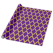 moroccan wrapping paper purple pineapple yellow moroccan 4 wrapping paper zazzle