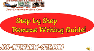 Resume Writing Job by Resume Writing Resume Writing Guide Step By Step Resume Guide