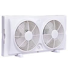 electrically reversible twin window fan amazon com costway 7 twin window fan reversible airflow dual blade