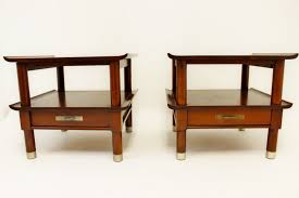 Night Stand Tables by Mid Century Modern Willett Pair Of Cherry End Side Nightstand
