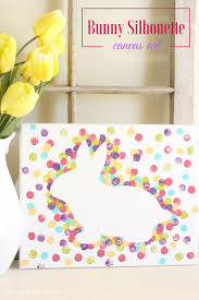 easter bunny canvas art crafts the o u0027jays and bunnies
