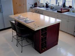 beige concrete kitchen island countertop brooks custom