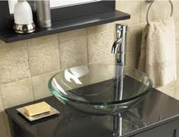 bathroom cloakroom countertop clear glass bowl basin sink amazon