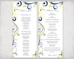 scroll wedding programs scroll program etsy