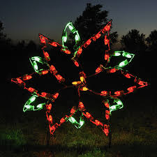 Outdoor Christmas Decoration by Shop Holiday Lighting Specialists 2 92 Ft Small Poinsettia Outdoor
