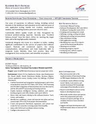 Manual Testing Fresher Resume Samples by Resume Format For Software Tester U2013 Resume Examples