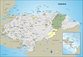 Driving Map Of America by Large Detailed Administrative And Road Map Of Honduras Honduras