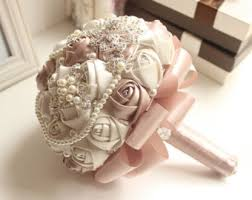 bridal bouquets brooch bouquet etsy