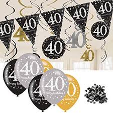 40th birthday decorations 40th birthday decorations black and gold 40th birthday bunting