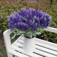 Wedding Garden Decor Aliexpress Com Buy Artificial Lavender Silk Flowers Elegant10