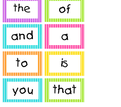 words cards spotted in grade bright stripes word wall cards
