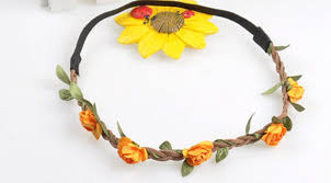 hippie flower headbands hippie flower garland crown festival wedding