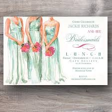 wedding luncheon invitations attentive attendants bridesmaid luncheon invitations celebration