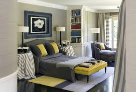 modern bedroom designs in black and yellow accent fabulous bench