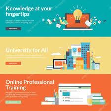 design online education flat design vector illustration concepts for online education online