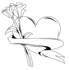 coloring pages for adults roses and hearts of crosses heart with