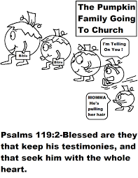 pumpkin family going to church coloring page jpg 1019 1319