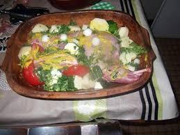 cuisiner du lapin facile recette de lapin et morceaux de lard au four avec une idée de