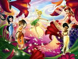tinkerbell flowerdrop wallpaper childhood pleasures