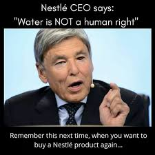Water Meme - fact check did the ceo of nestlé say water is not a human right