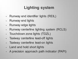 runway end identifier lights air electrical systems of the airport kpt ing luděk pilný ppt