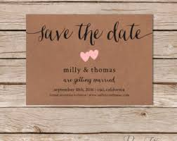 custom save the dates simple save the date card kraft wedding save the dates