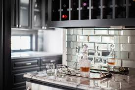 mirror tile backsplash kitchen beveled mirrored subway tiles contemporary kitchen