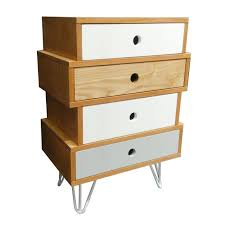 meuble commode chambre meuble commode 4 tiroirs esprit scandinave coloris blanc gris