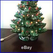 vintage ceramic christmas tree ceramic christmas tree green with multi colored bulbs 2 pc