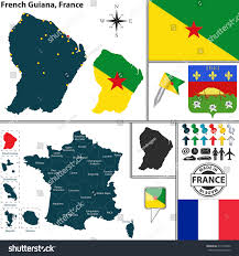 Map Of Brittany France by Vector Map State French Guiana Coat Stock Vector 215723542