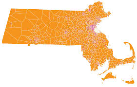 Map Of Massachusetts map of massachusetts municipalities reorganized based on the