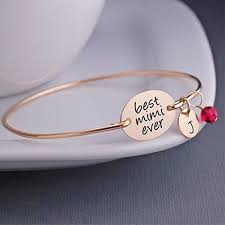 baby gold bracelet with name best mimi personalized bangle bracelet christmas gift for