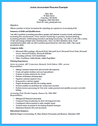 Resume Samples Accounting Experience by Junior Accountant Sample Resume Free Resume Example And Writing