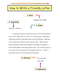 how to write a friendly letter doc ela lesson ideas