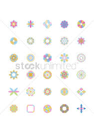collection of geometric designs vector image 1450200