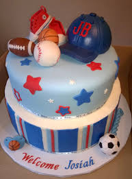 sports all star little mvp baby shower cake with fondant football