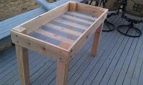 Lowes Garden Variety Outdoor Bench Plans by Diy Raised Bed Planter 16 Steps With Pictures