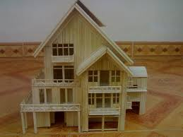 toothpick house diy tutorial home diy making house by toothpicks bead cord