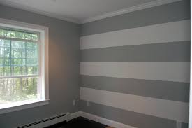 Striped Bedroom Wall by Crafty Teacher Lady Stripes