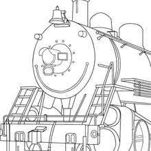 mechanic repairing electric train coloring pages hellokids