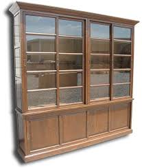 Solid Wood Bookcases With Glass Doors Sliding Bookcases Solid Wood Bookcase With Glass Doors Ideas