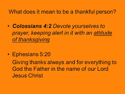 thankfulness a in tune with god ppt