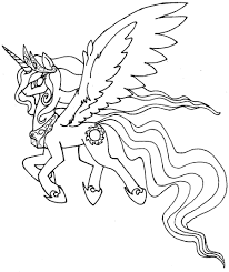 24 my little pony coloring pages princess celestia cartoons