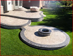 Fire Pit Price - stamped concrete patio with fire pit contractors michigan