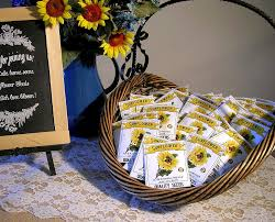 sunflower seed packets seedpackets2u personalized seed packets for weddings and more