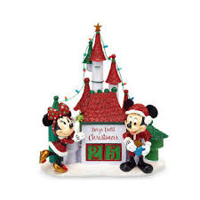 Minnie Mouse Christmas Decorations Bigbolo Santa Mickey And Minnie Mouse Holiday Countdown Castle