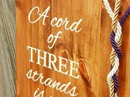 three cords wedding ceremony unity braids a cord of three strands wedding signs rustic